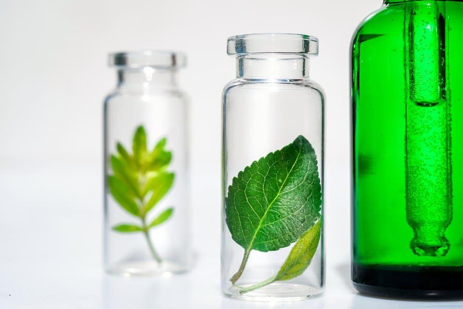 Pflegemittel im Glas um die Haartransplantation Rötung Dauer zu senken