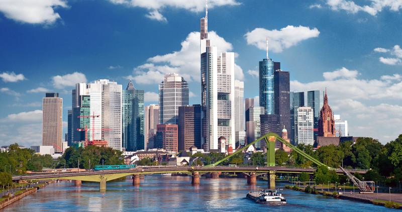 Skyline von Frankfurt.